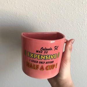 🌞4/$35  Funny Florida Orlando half cup vintage